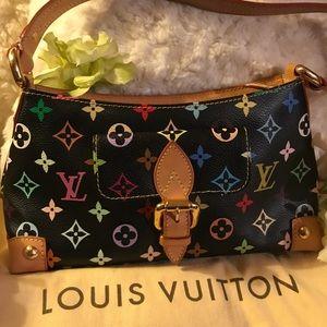 ❤️Authentic LV ELIZA MULTI-color bag in black!❤️